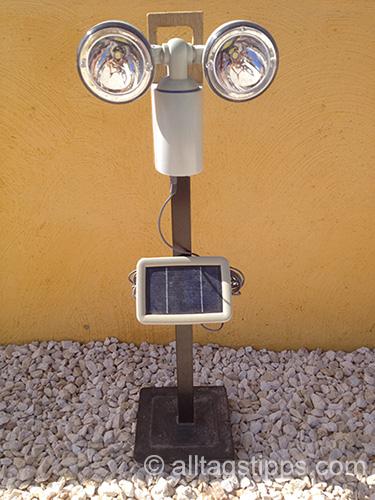 Tragbare solarlampe selber bauen alltagstipps - Gartenlampe selber bauen ...