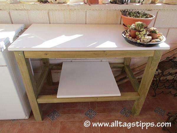 Außenküche Selber Bauen Lassen : Arbeitstisch für außenküche bauen u alltagstipps